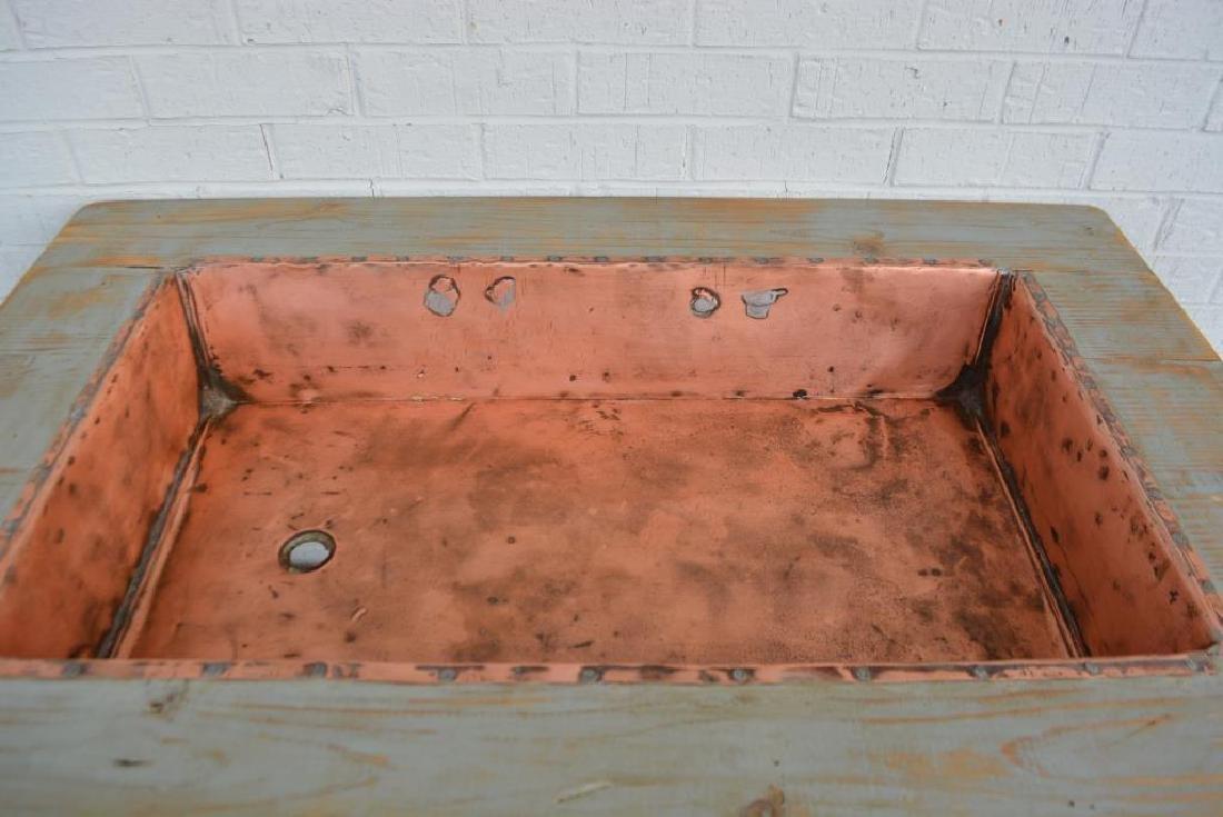 "Farmhouse Copper Sink 35 1/2""H,   45""L,   29""W - 2"