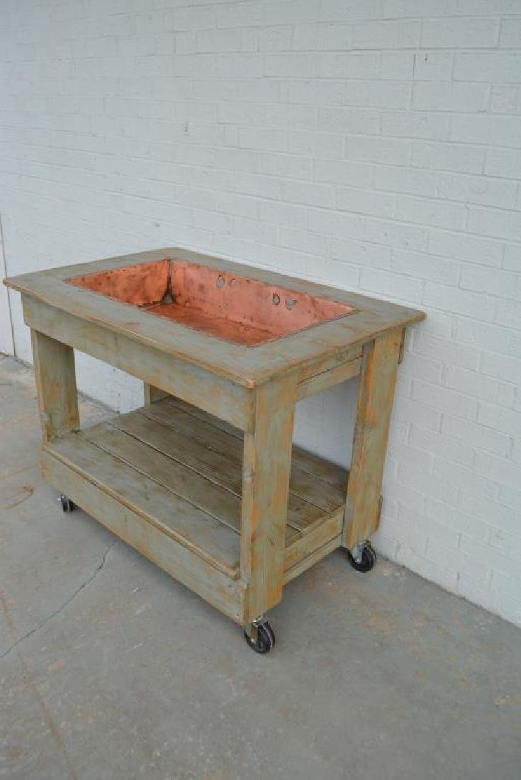 "Farmhouse Copper Sink 35 1/2""H,   45""L,   29""W - 3"