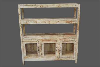 """Early Painted Display Shelf 57 3/4""""H,   54""""L,   15""""W"""