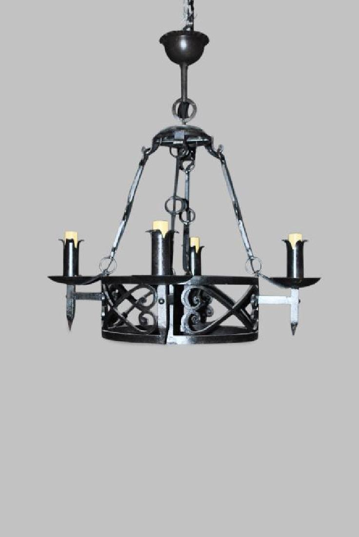Wrought iron light fixture 29h 28 12 french wrought iron light fixture 29h 28 12 x arubaitofo Choice Image
