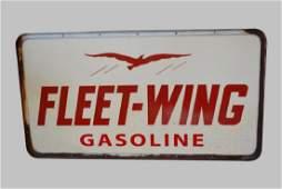 Fleet-Wing Gasoline Sign-Fiberglass, Double Sided 38
