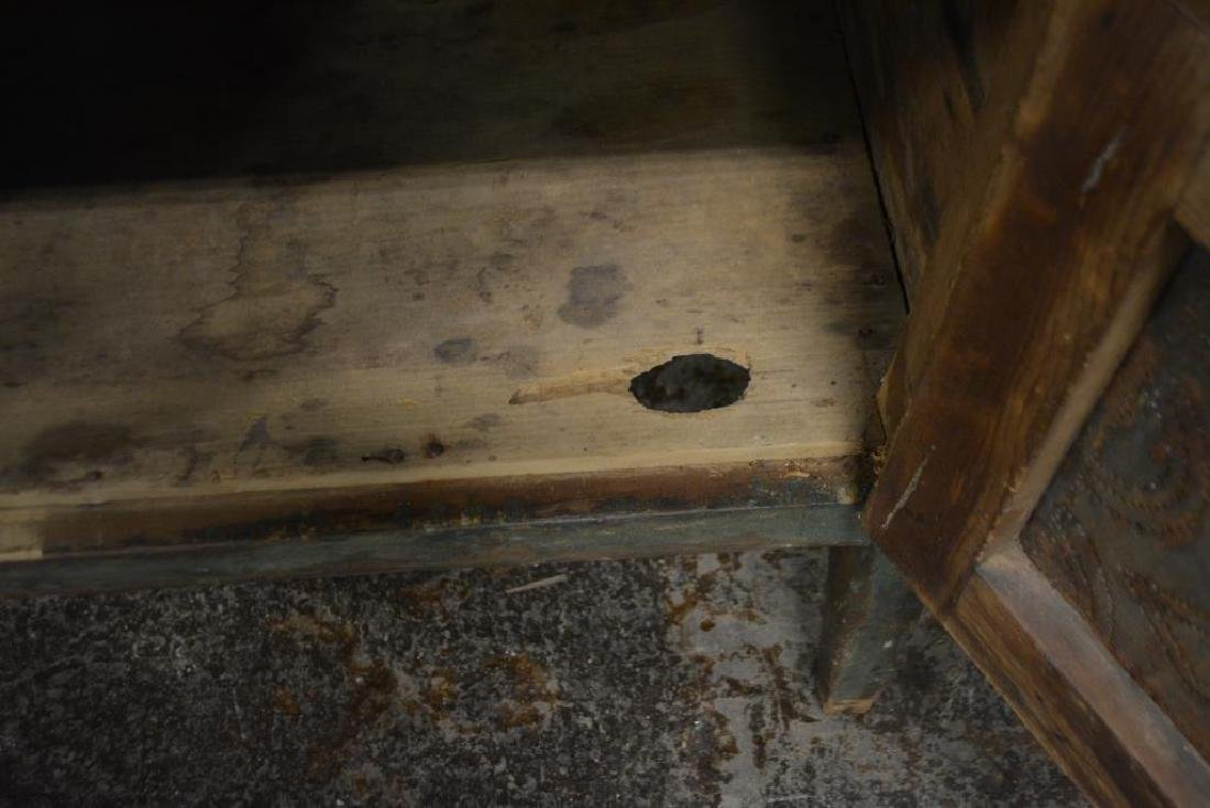 Virginia Pie Safe in old layer painted green - 3