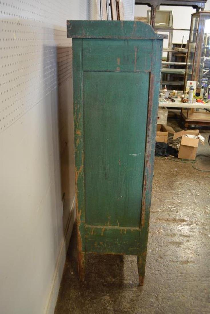 Virginia Pie Safe in old layer painted green - 6