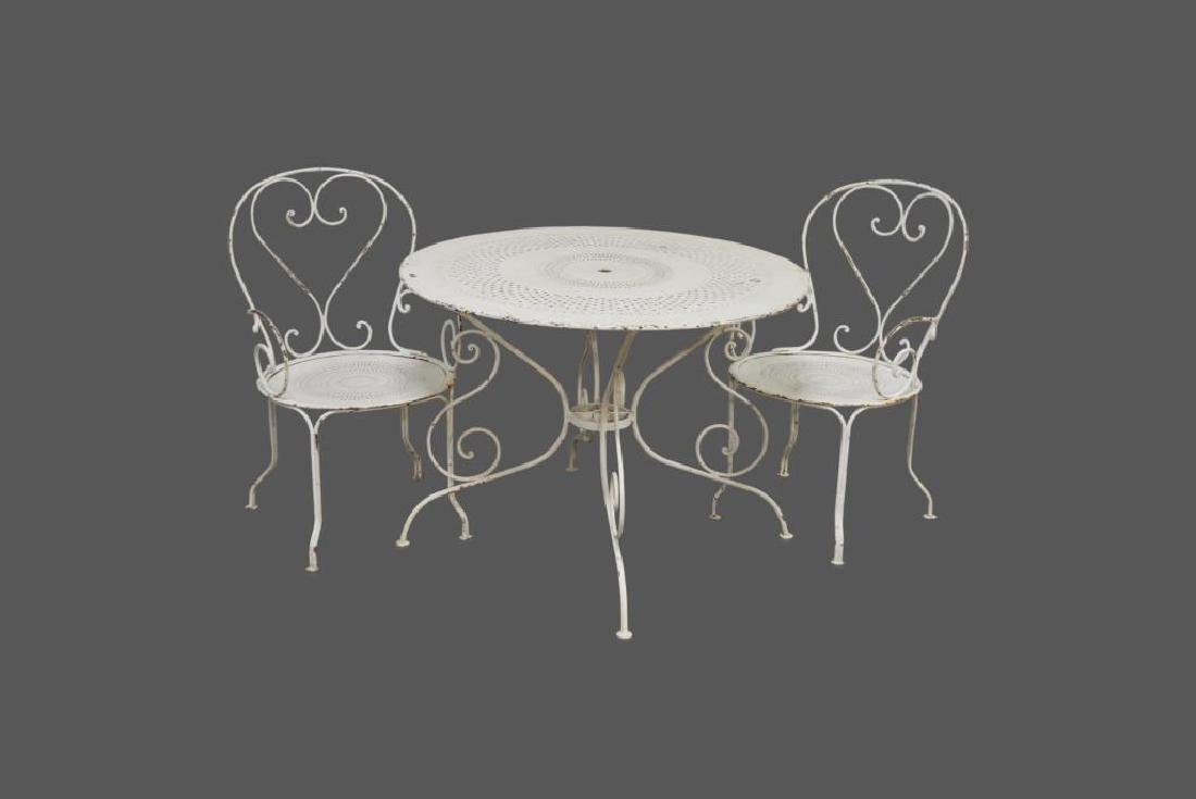 3pc. French Bistro Set table, 2