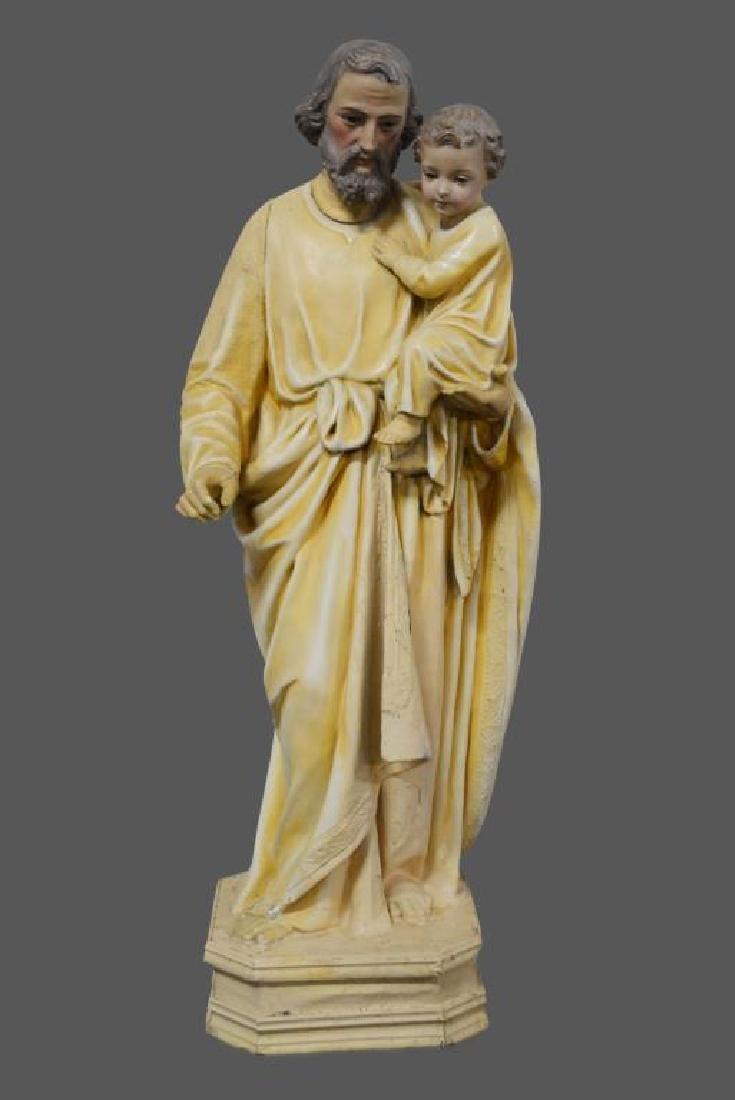 """Religious Statue 37 1/2""""H,   10 3/4""""  x   12"""""""
