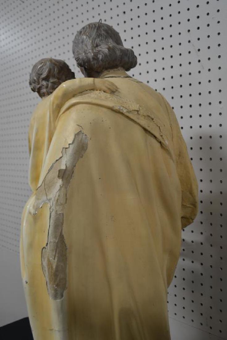 """Religious Statue 37 1/2""""H,   10 3/4""""  x   12"""" - 5"""