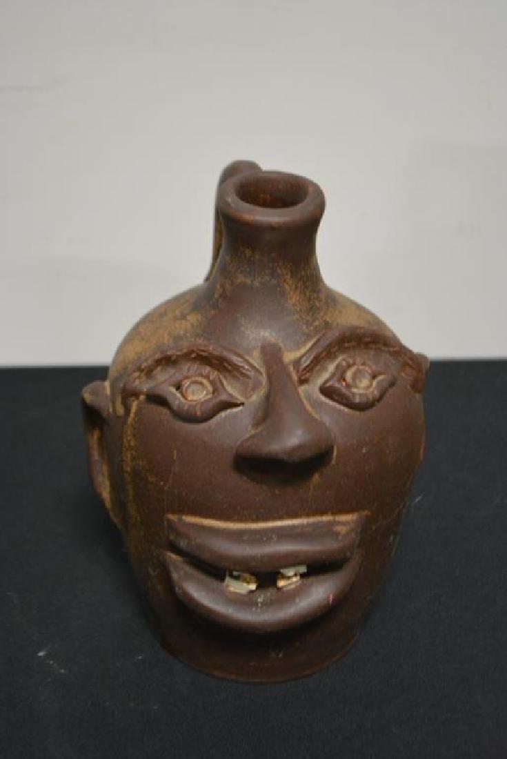 "5-Piece Folk Art  Face Jug Lot 6 1/4""H   /   5""H   / - 7"