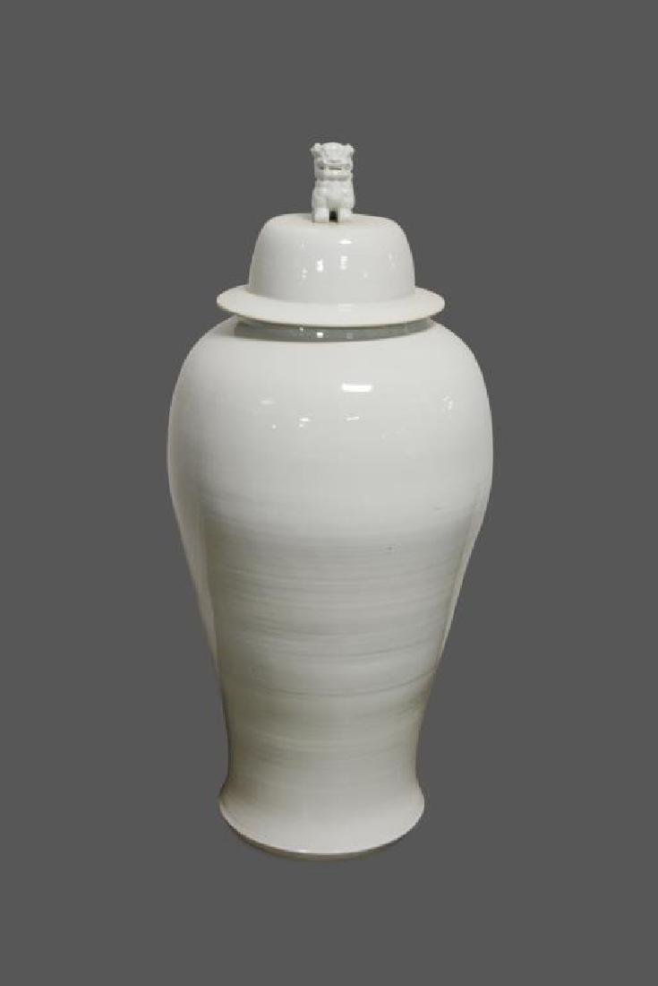 "Large Ginger Jar w/ Lid 48""H,   22"" diam."