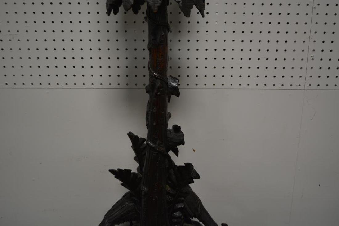 """Hand Carved Folky Black Forest Plant Stand 43""""H,   19 - 7"""