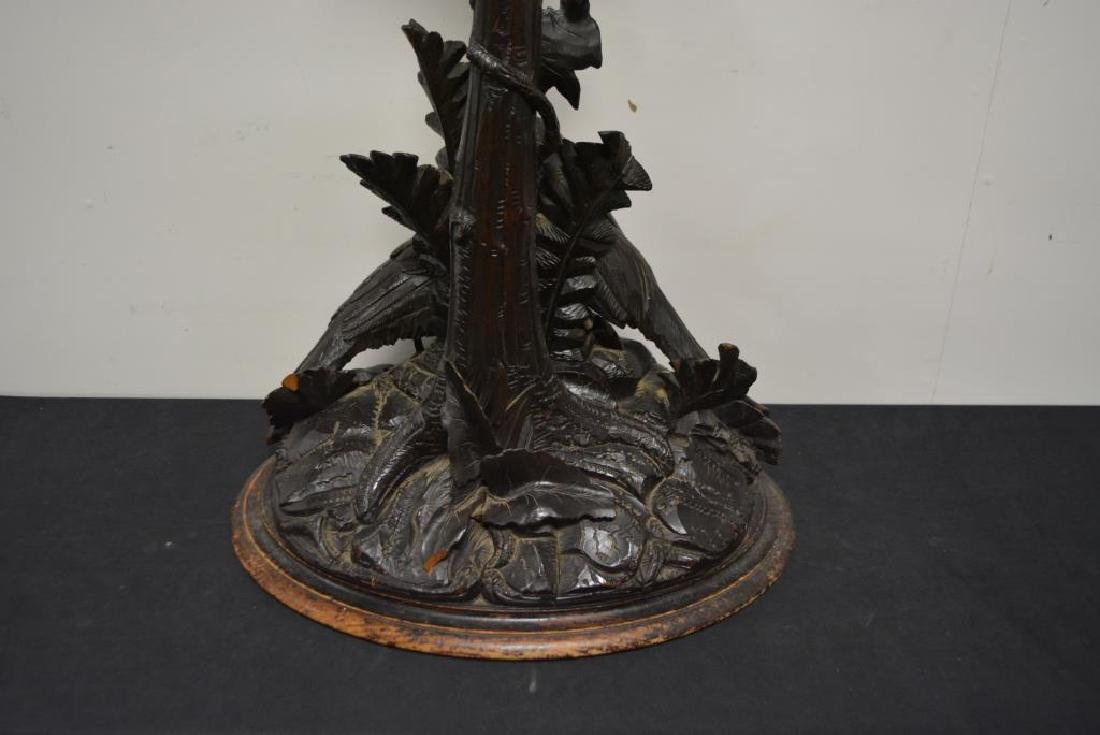 """Hand Carved Folky Black Forest Plant Stand 43""""H,   19 - 8"""