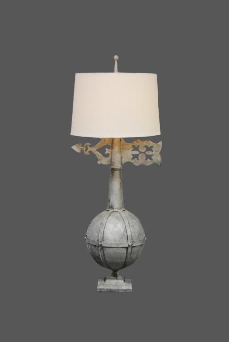 "Metal Architectural Finial Lamp 47""H"
