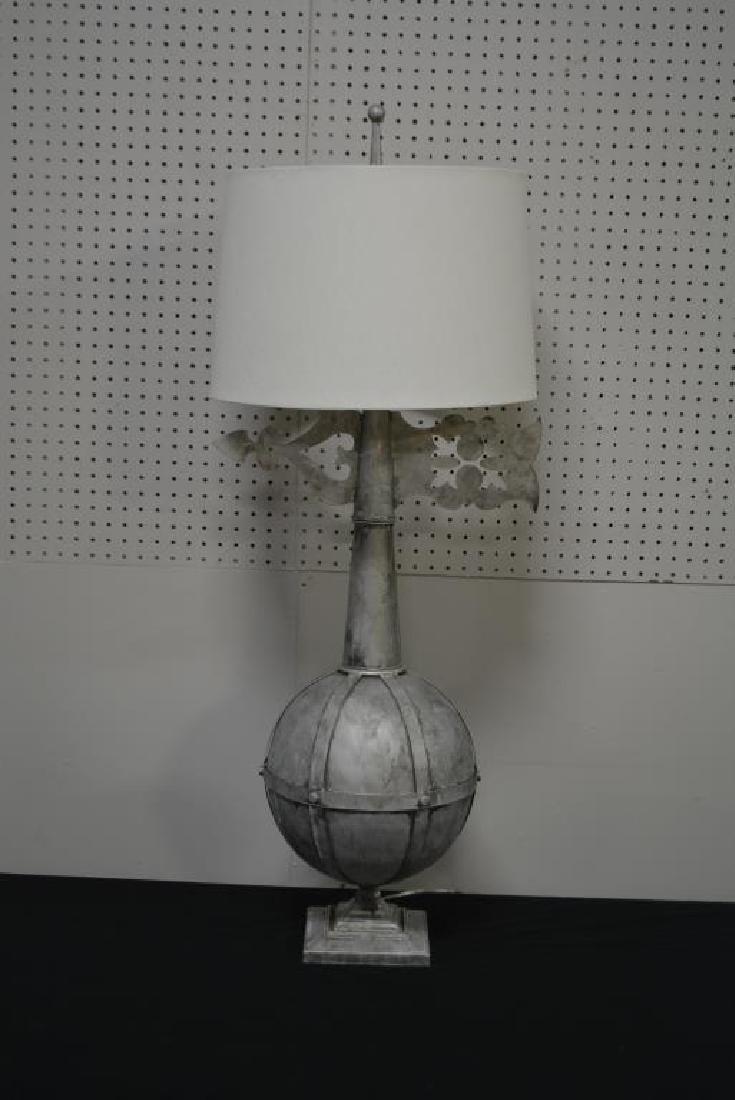 "Metal Architectural Finial Lamp 47""H - 2"