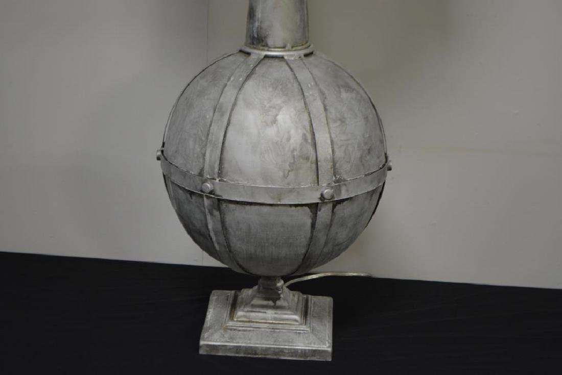 "Metal Architectural Finial Lamp 47""H - 4"