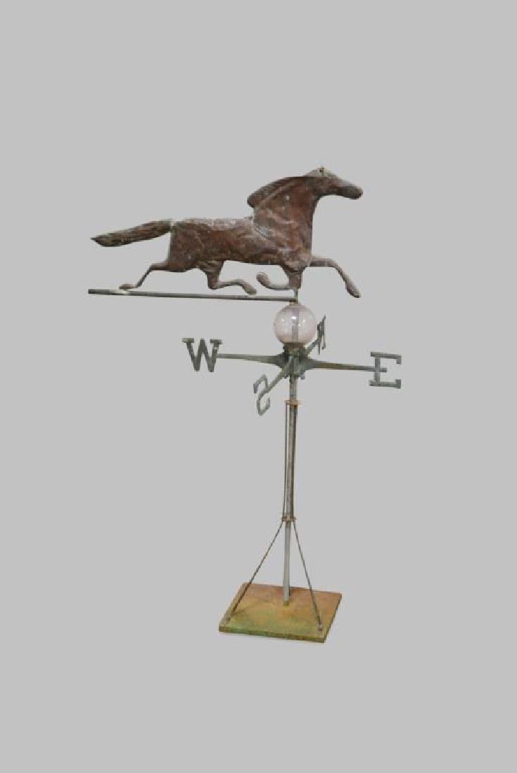 "Horse Weathervane w/ Directional 49 1/2""H,   33 3/4""L"