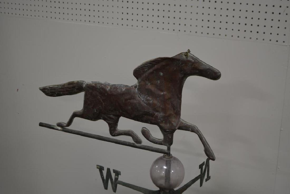 "Horse Weathervane w/ Directional 49 1/2""H,   33 3/4""L - 2"