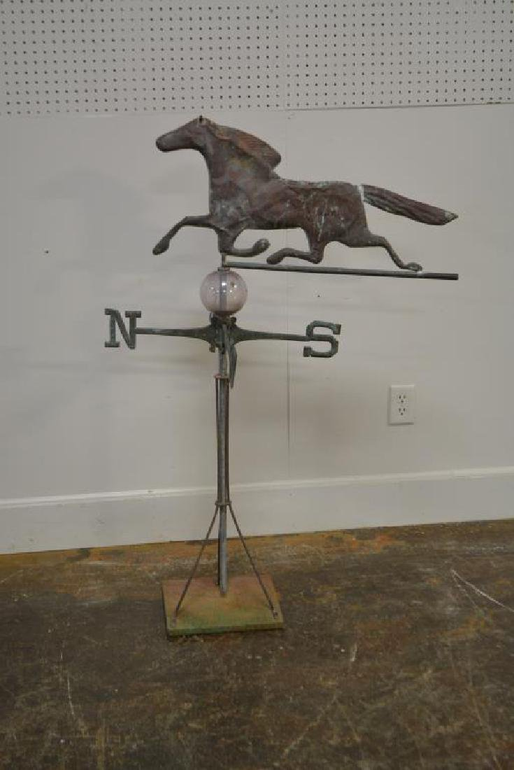 "Horse Weathervane w/ Directional 49 1/2""H,   33 3/4""L - 4"