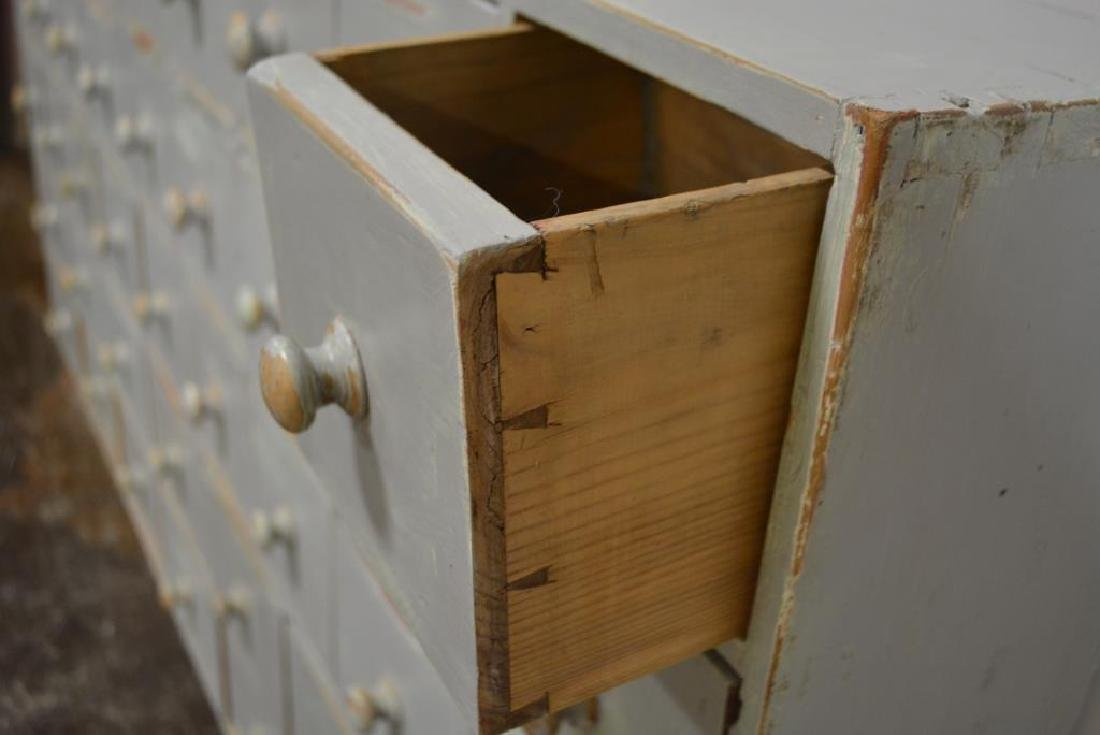 """Painted Apothecary Chest 33""""H,   66""""L,   7""""W - 2"""