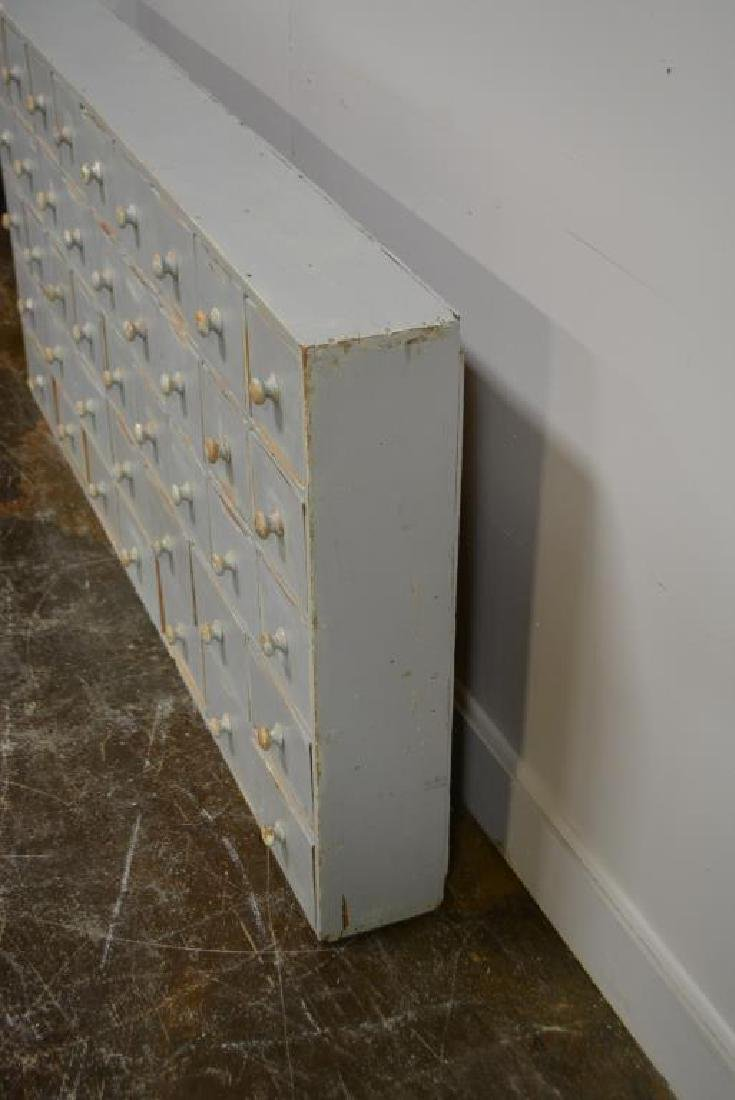"""Painted Apothecary Chest 33""""H,   66""""L,   7""""W - 3"""