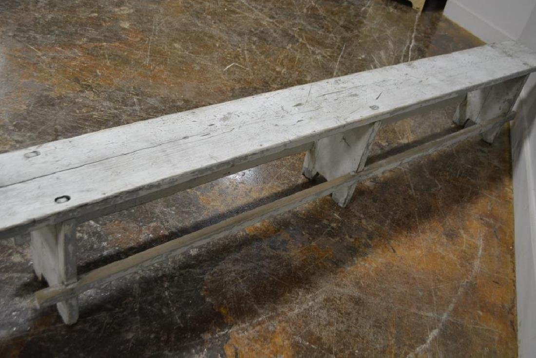 """Painted Mortised Bench 19 3/4""""H,   118 1/4""""L,   12""""W - 4"""