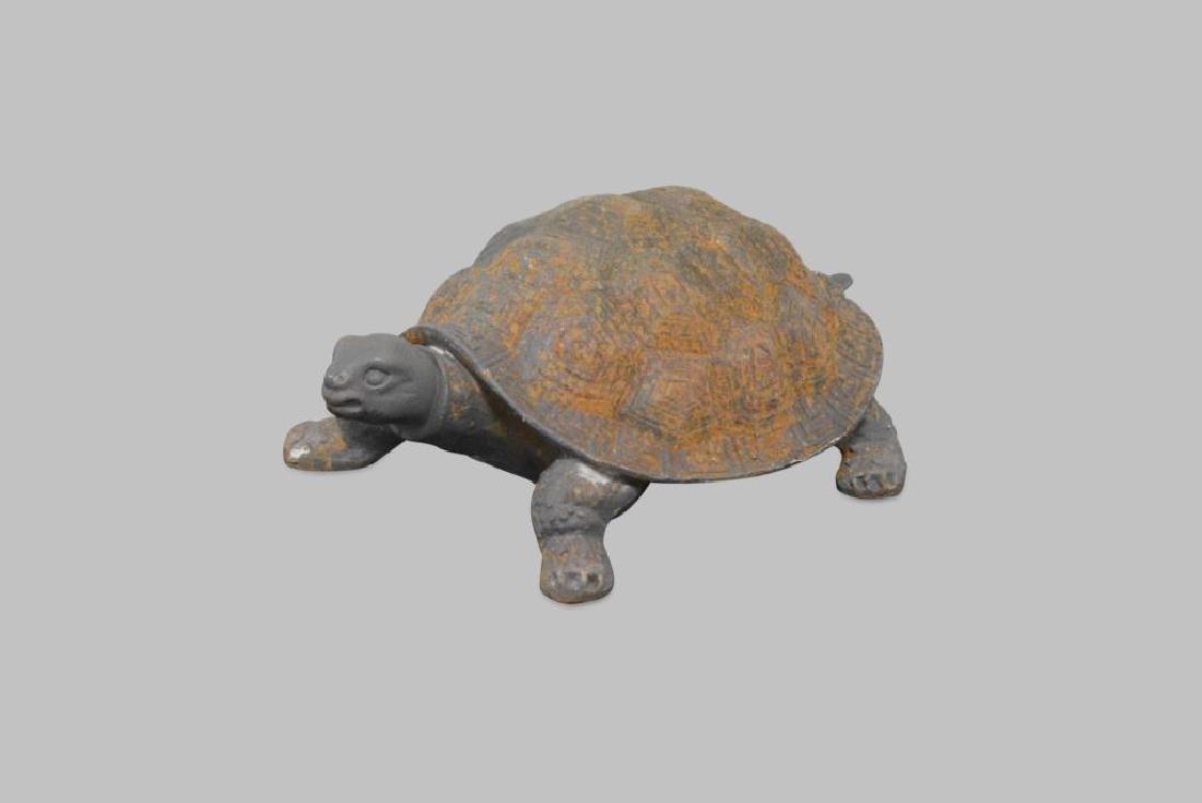 "Cast Iron Turtle 6 1/2""H,   17""  x   11"""