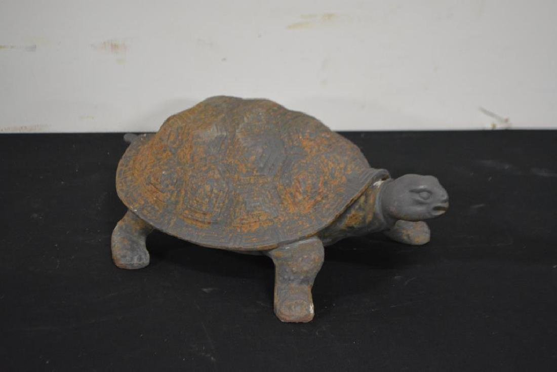 "Cast Iron Turtle 6 1/2""H,   17""  x   11"" - 2"