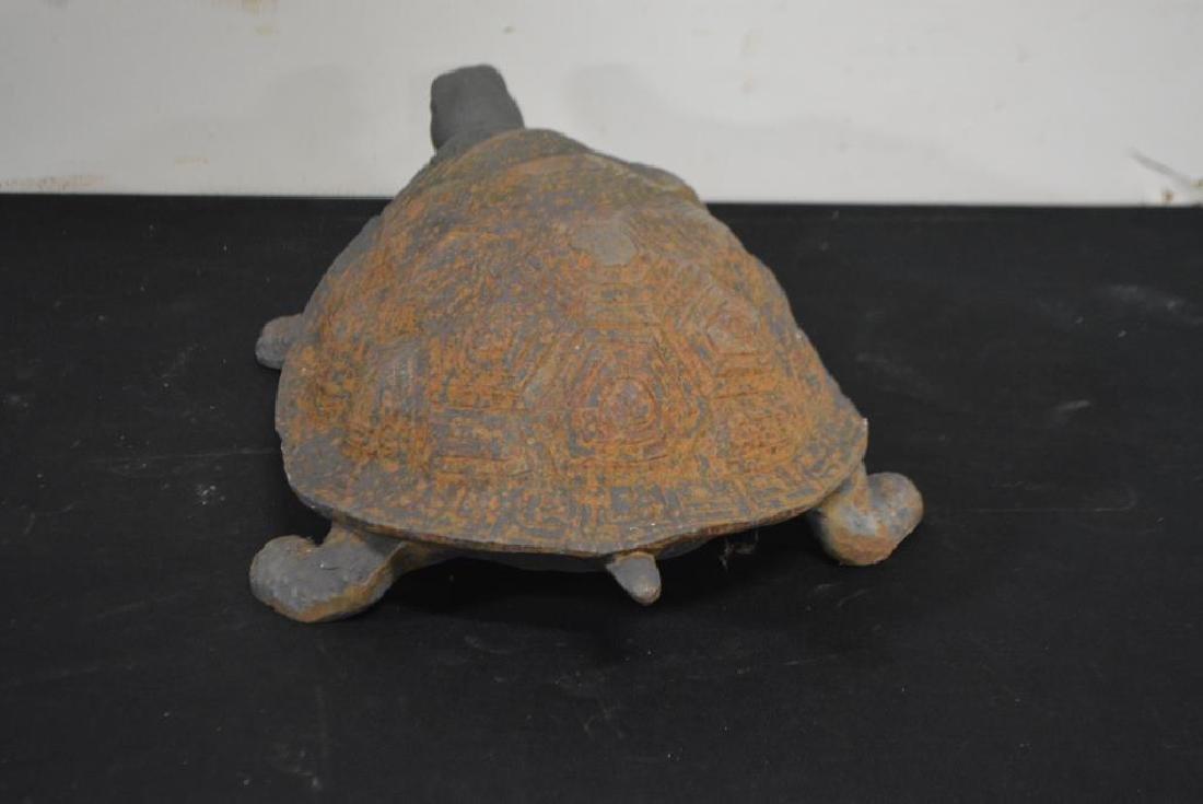 "Cast Iron Turtle 6 1/2""H,   17""  x   11"" - 3"