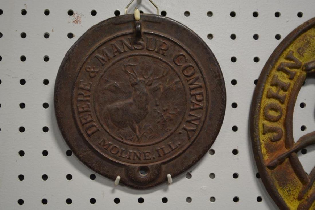 "2pc. John Deere Lot 17 3/4""  x   10 1/2""        /     7 - 2"