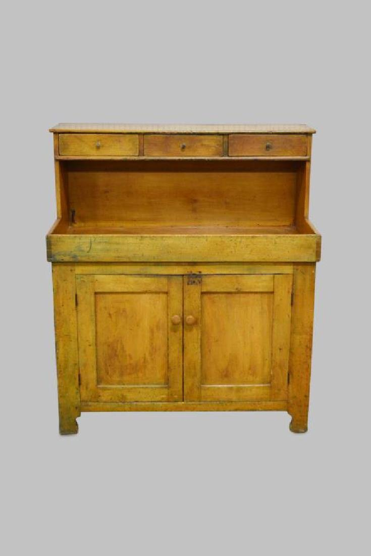 """Early Pa. High Back Dry Sink 49 3/4""""H,   44 1/2""""L,   22"""