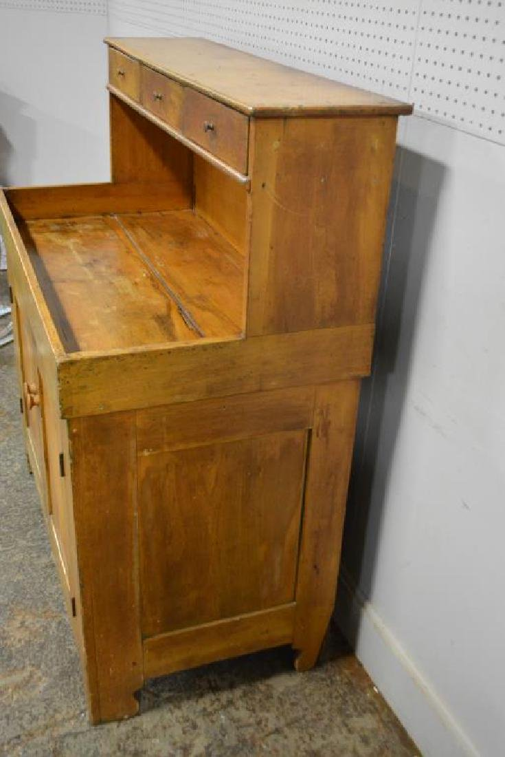 """Early Pa. High Back Dry Sink 49 3/4""""H,   44 1/2""""L,   22 - 3"""