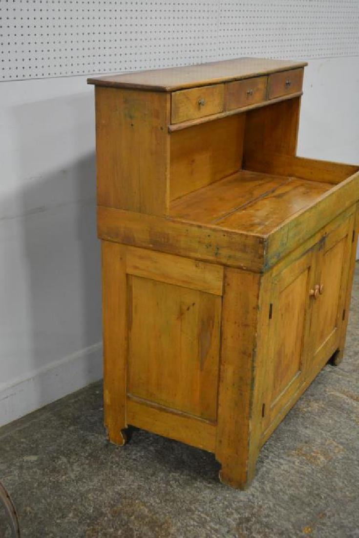 """Early Pa. High Back Dry Sink 49 3/4""""H,   44 1/2""""L,   22 - 6"""