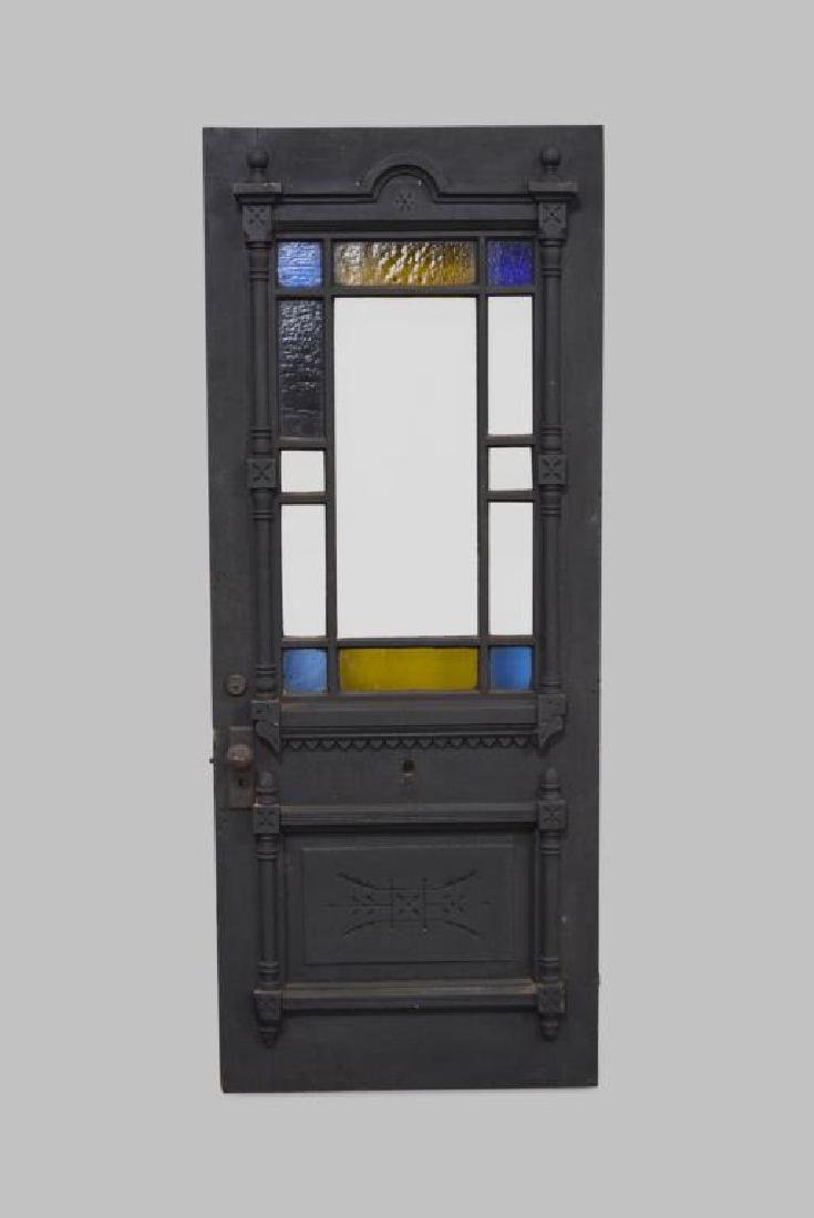 """Architectural Painted Door w/ Stain Glass 80 1/4""""  x"""