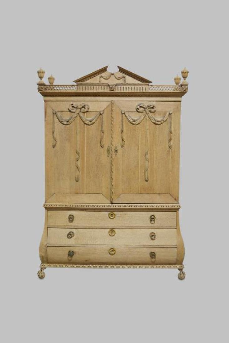 """French Carved Armoire 92 1/2""""H,   64 1/2""""L,   25""""W"""