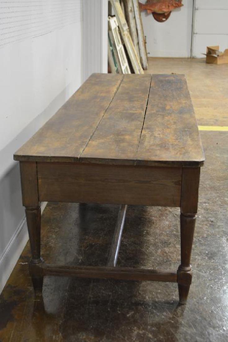 """19th C. Draiper's Table 31 1/4""""H,   102""""L,   34 1/2""""W - 2"""