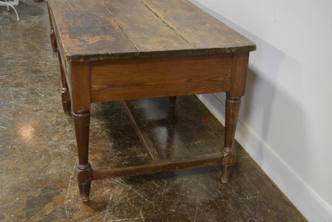 """19th C. Draiper's Table 31 1/4""""H,   102""""L,   34 1/2""""W - 4"""