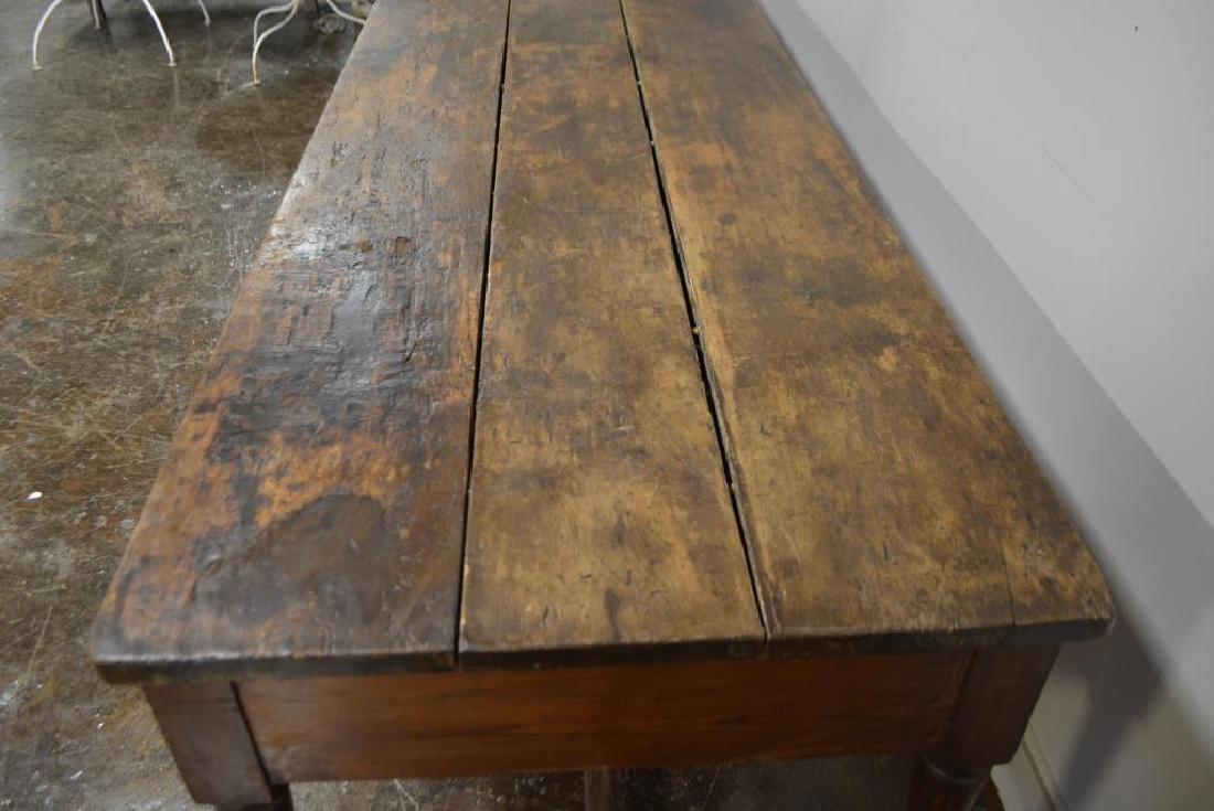 """19th C. Draiper's Table 31 1/4""""H,   102""""L,   34 1/2""""W - 5"""