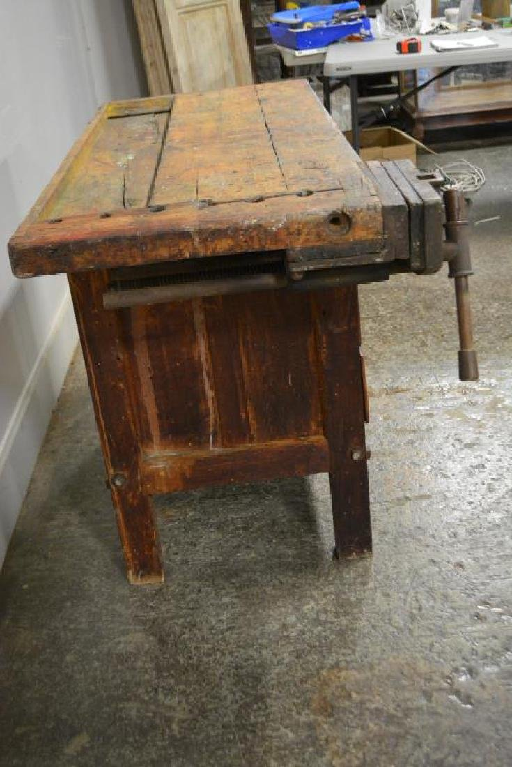 "Work Bench w/ Drawers 32""H,   52""L,   22""W,   27 - 3"
