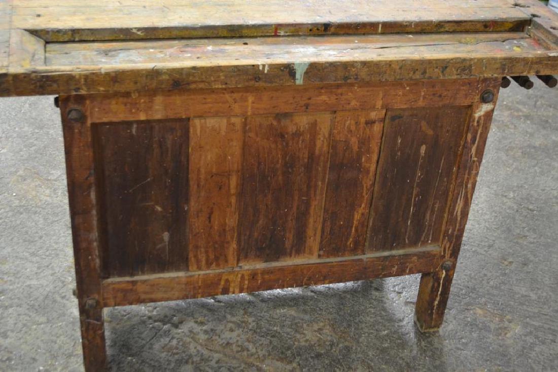"Work Bench w/ Drawers 32""H,   52""L,   22""W,   27 - 5"