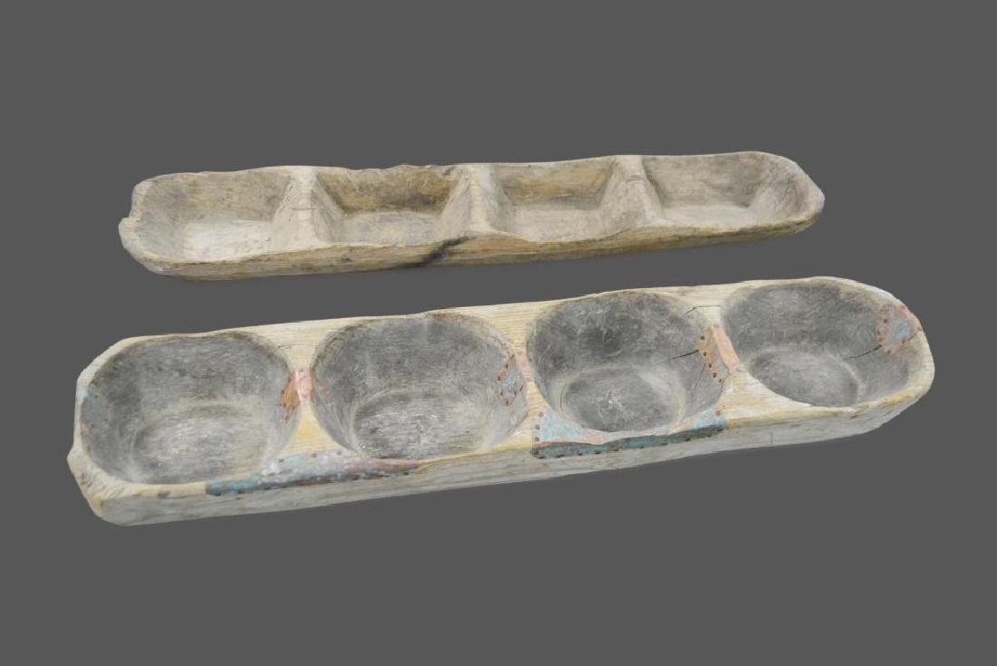 """Early Wooden Dough Riser X-2 4 1/2""""H,   40 1/4""""  x   9"""