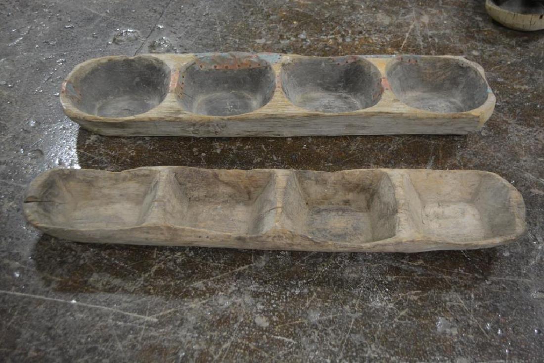 """Early Wooden Dough Riser X-2 4 1/2""""H,   40 1/4""""  x   9 - 2"""