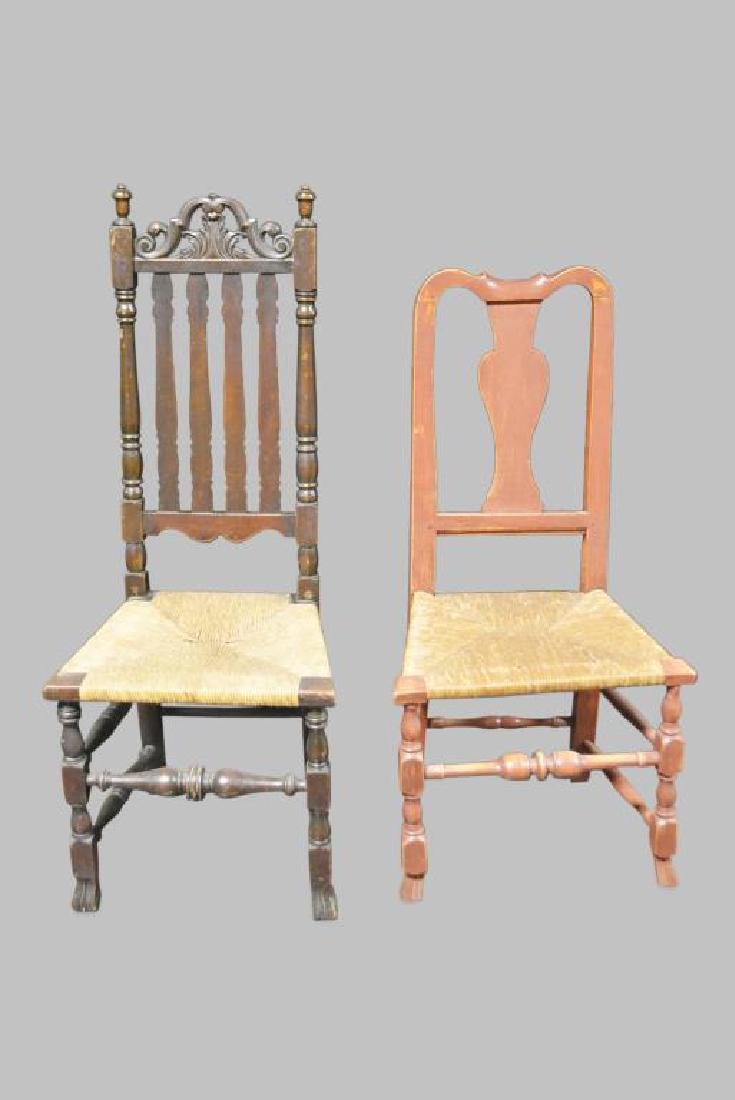 2pc. Lot of Late 18th C. Arm Chairs