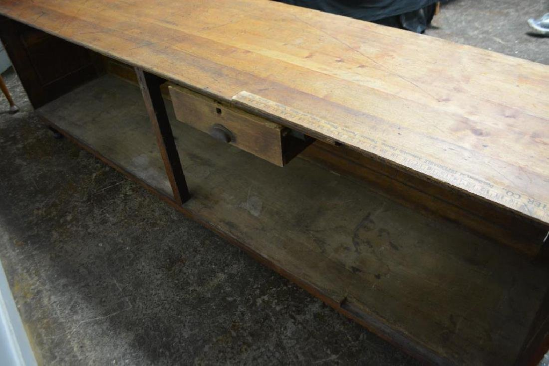 "Draiper's Store Counter w/ Iron Feet 32 1/4""H,   106 - 6"