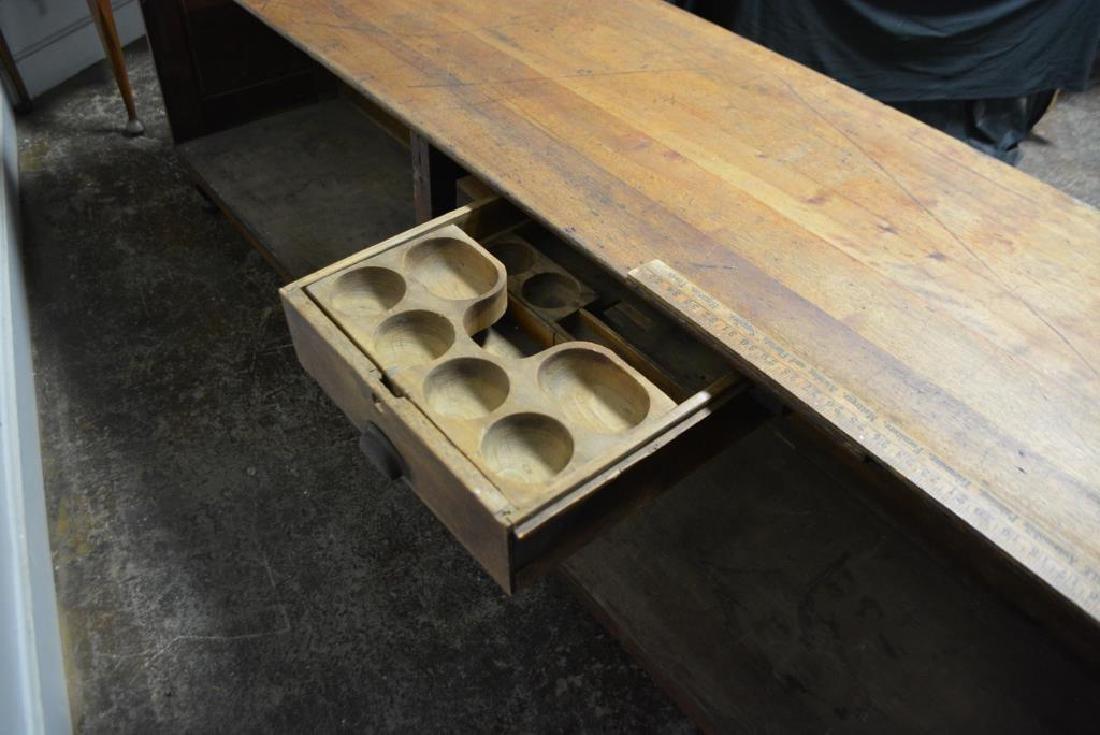 "Draiper's Store Counter w/ Iron Feet 32 1/4""H,   106 - 7"