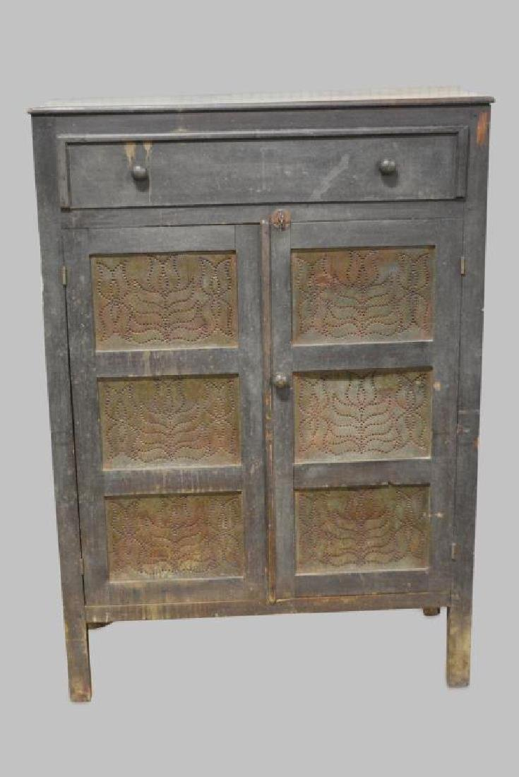 "Early Va. Pie Safe 57 3/4""H,   43 1/2""L,   17 1/4""W"