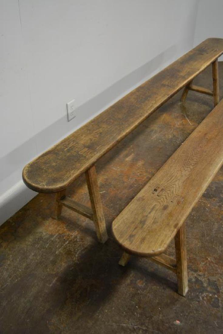 """Mortised Bench X-2 19""""H,   92""""L,   9""""W      ea. - 2"""