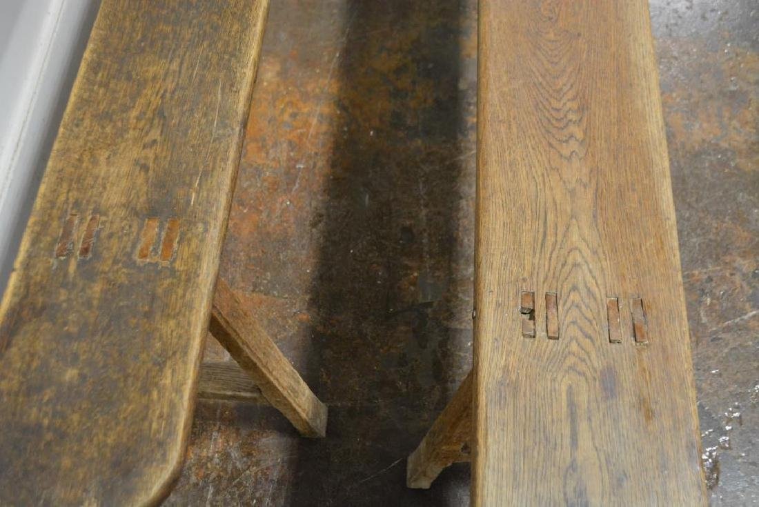 """Mortised Bench X-2 19""""H,   92""""L,   9""""W      ea. - 3"""