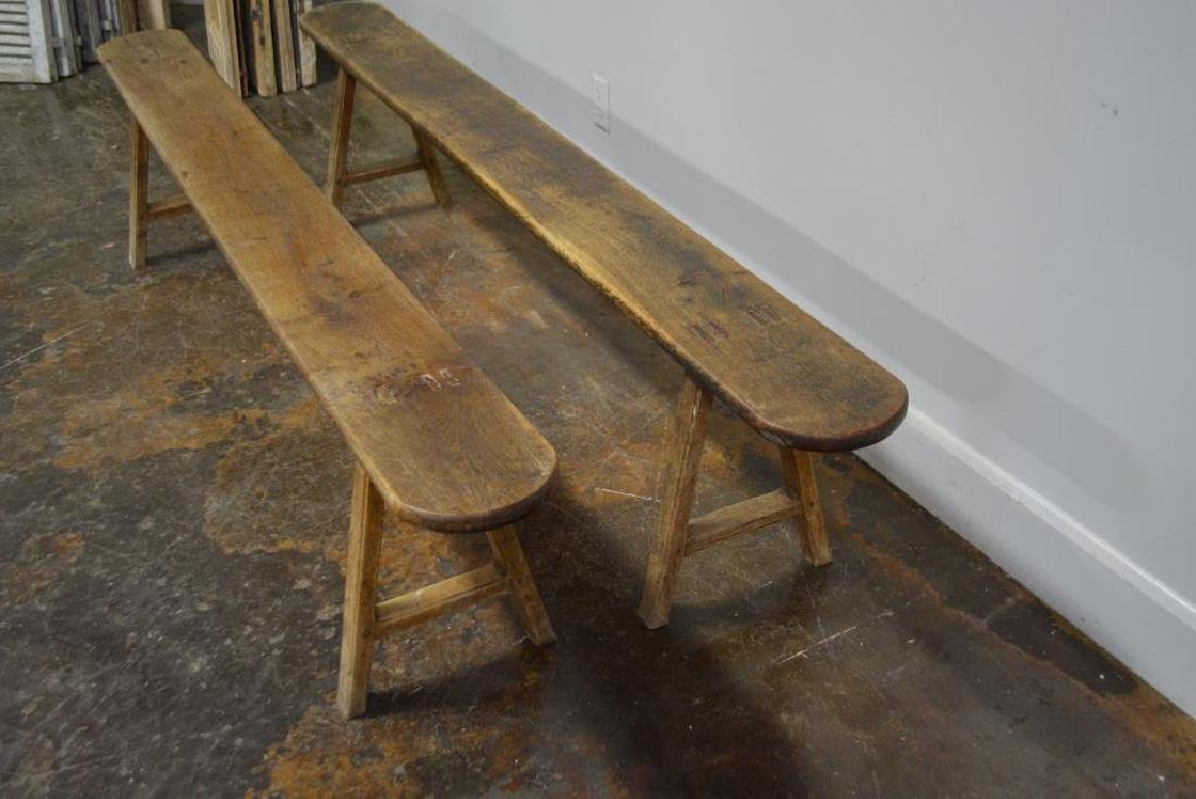 """Mortised Bench X-2 19""""H,   92""""L,   9""""W      ea. - 4"""