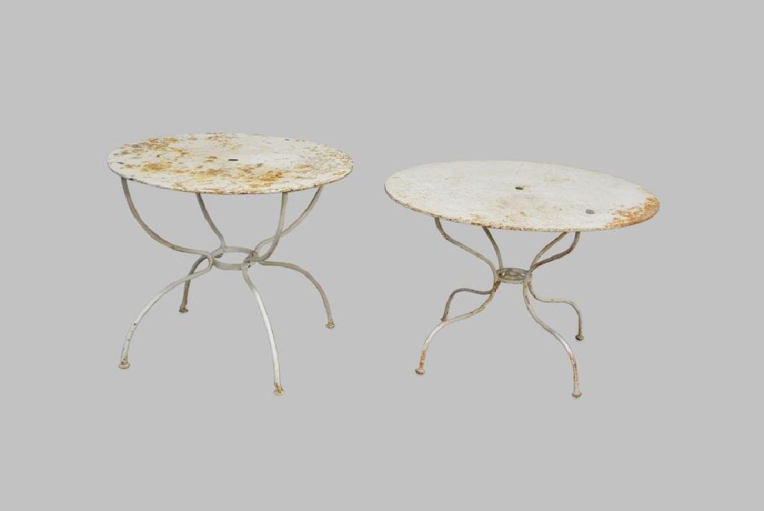 """French Metal Bistro Table X-2 29""""H,   35"""" diam.     /"""