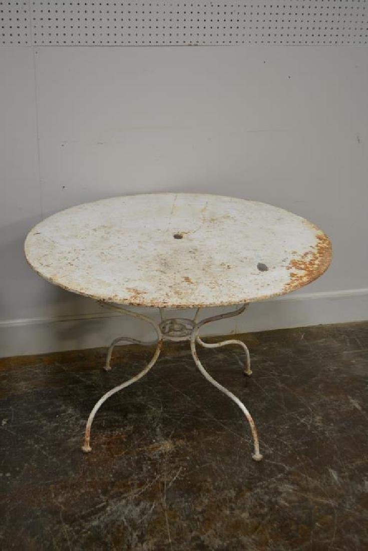 """French Metal Bistro Table X-2 29""""H,   35"""" diam.     / - 3"""