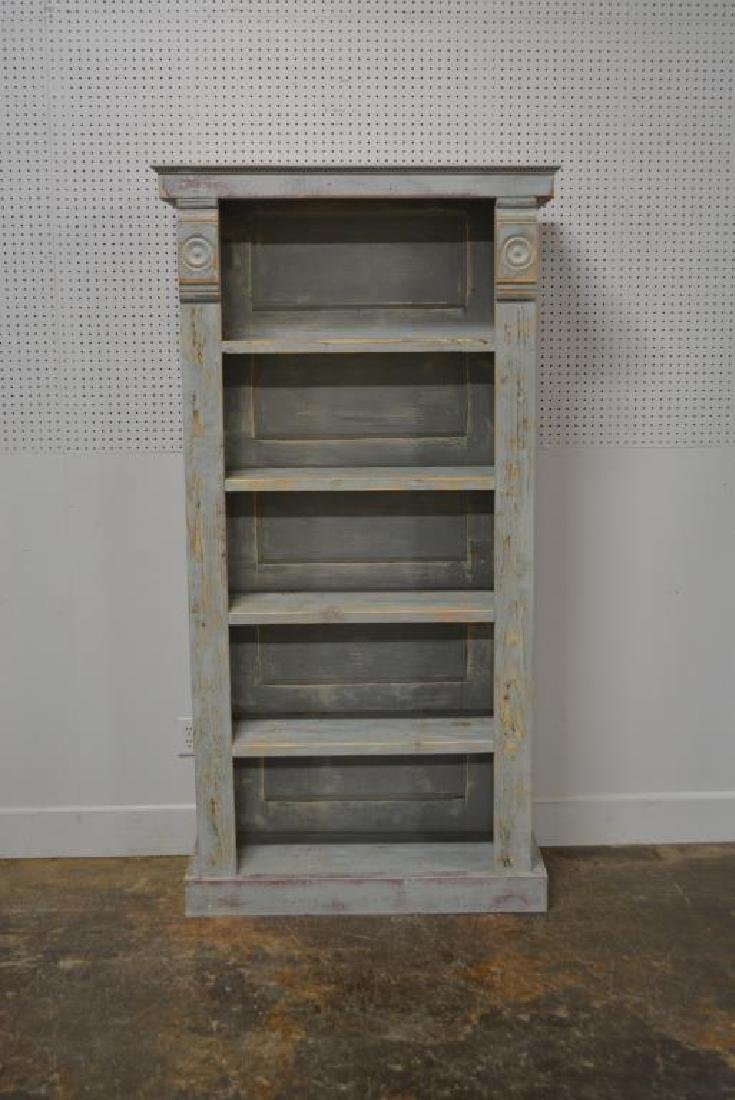 """Painted Country Store Display Shelf 79 1/4""""H,   40"""