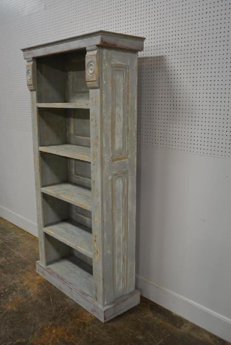 """Painted Country Store Display Shelf 79 1/4""""H,   40 - 3"""